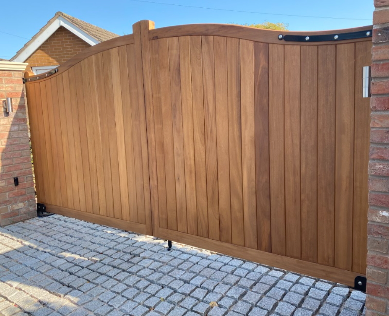 Large automated wooden Gates