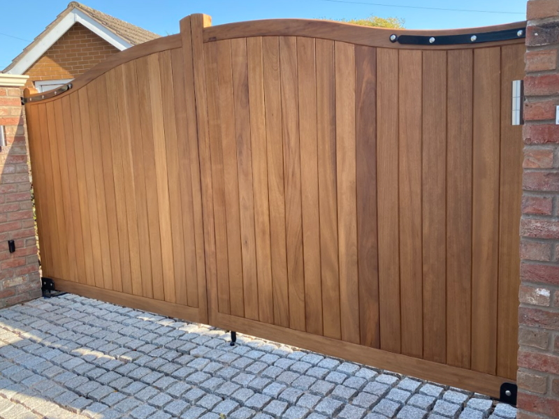 Electric Wooden Gates